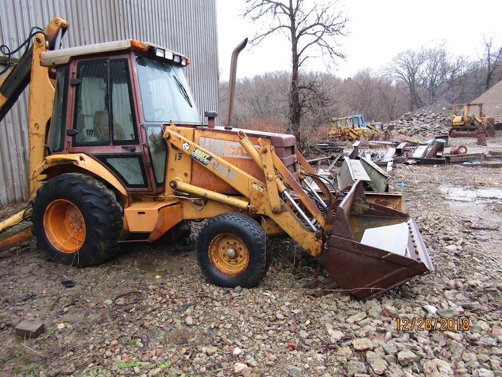 Case 580K Backhoe 2x4 enclosed cab, extended hoe - Located in pennsylvania