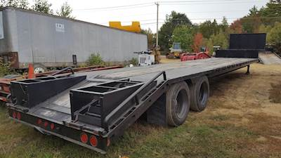 2004 Neville Step Deck with Ramps Trailer