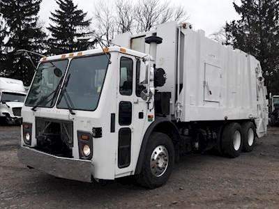 Trash Trucks For Sale >> 2008 Mack Leu613 Garbage Truck Mp7 350hp Automatic 25 Yard Heil Rear Load Trash Body