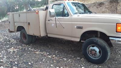 1991 Ford F-350 XLT 4x4 Service Truck with Knapheide Truck Body