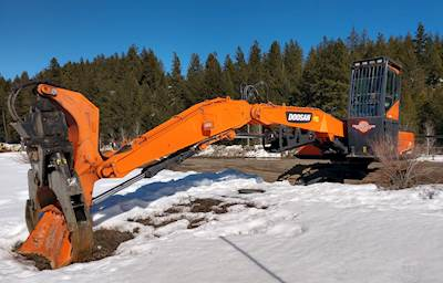 2018 Doosan DX300LL-5 Log Loader - Pierce TC60 Grapple LOW HOURS