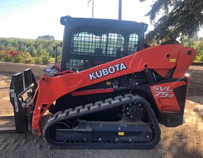 2018 Kubota SVL-75-2-HFC Skid Steer / with 7 attachments