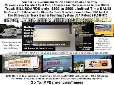 Box Truck Banner Framing