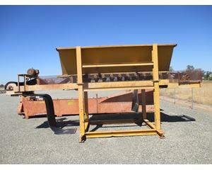 "Hopper 6' wide x 13' long with 30"" wide x 22' long Conveyor-Belt Feeder, Skid Structure Aggregate / Mining Equipment"