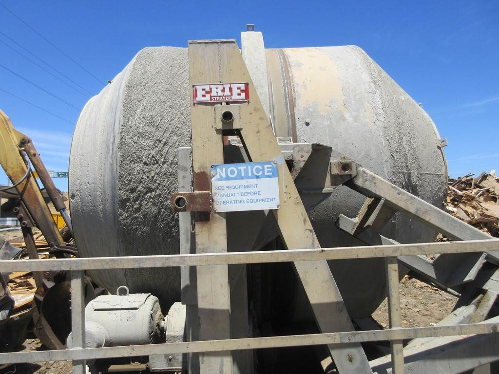 Erie Strayer 12 Cubic Yard Tilting Mixer Drum Assembly for concrete  production