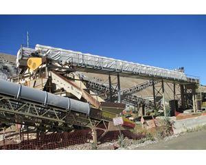 "Coldcrete 60"" wide x 99' long Wet Belt Aggregate Chiller Conveyor Conveyor / Stacker"