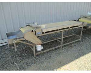"26"" wide x 9' 6"" long, Stainless Steel Frame with Cross Belt Magnet Conveyor / Stacker"