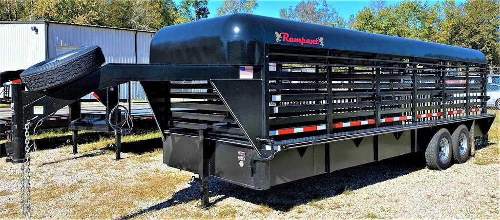 2021 Rampant 7 Ton Livestock Gooseneck Livestock Trailer For Sale Wendell Nc 7tonlivestockgoose Mylittlesalesman Com
