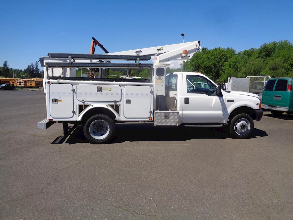 2000 Ford F-450 Boom / Bucket Truck, Automatic with Telsta A28D Aerial Lift  For Sale, 236,002 Miles | Boring, OR | 3262 | MyLittleSalesman com