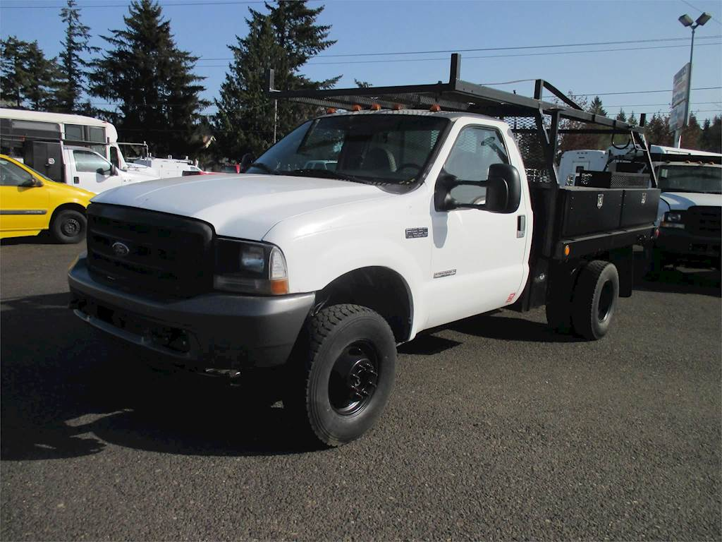 2004 Ford F 350 Xl Flatbed Truck For Sale 95 343 Miles Boring Or