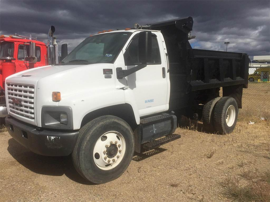 2009 GMC TopKick C7500 Single Axle Dump Truck, Isuzu 6HK1-TC, 225HP,