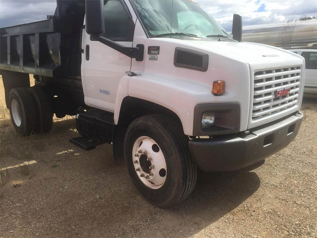 2009 Gmc Topkick C7500 Single Axle Dump Truck Isuzu 6hk1 Tc 225hp 1995 Chevy Kodiak