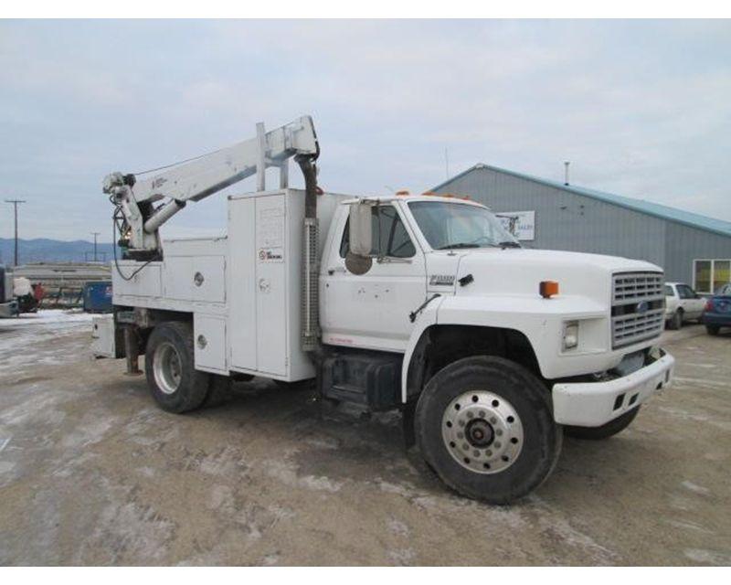 1992 ford f 800 service utility truck for sale missoula mt. Black Bedroom Furniture Sets. Home Design Ideas