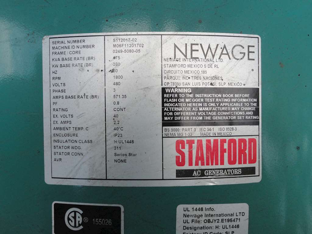 2006 Cummins Tier 3 - 275 KW Generator Set  NEW For Sale