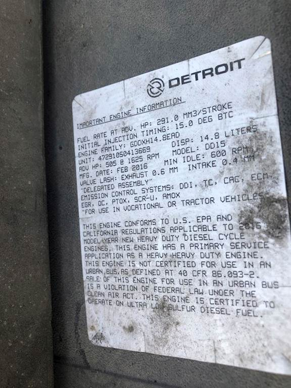 Detroit DD15 Engine for a 2016 Freightliner For Sale | Farr